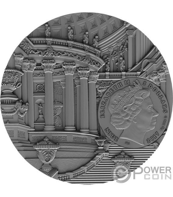 RENAISSANCE Wiedergeburt Amber Art 2 Oz Silber Münze 5$ Niue 2017