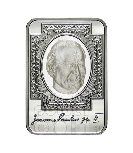 POPE John Paul II Silver Coin Hologram 10D Andorra 2010