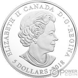 MARCH Birthstone Swarovski Crystal Silver Coin 5$ Canada 2018