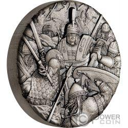 ROMAN LEGION Römische Warfare 2 Oz Silber Münze 2$ Tuvalu 2018