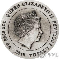 ROMAN LEGION Warfare 2 Oz Silver Coin 2$ Tuvalu 2018