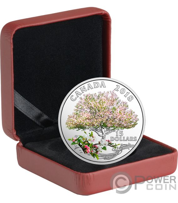 Apple Blossoms Celebration Of Spring Silver Coin 15