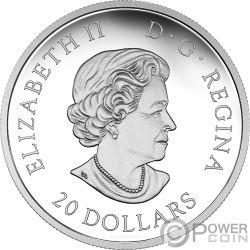 LUCKY CLOVER Four Leaf 1 Oz Silver Coin 20$ Canada 2018