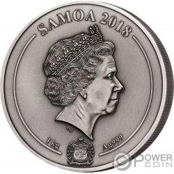 MAYA HERITAGE Herencia Multiple Layer 1 Kg Kilo Moneda Plata 25$ Samoa 2018