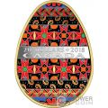 UKRAINIAN PYSANKA Easter Golden Spring Egg Shape Folk Art 1 Oz Silver Coin 20$ Canada 2018