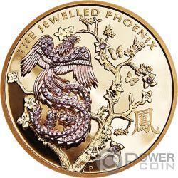 JEWELLED PHOENIX Fenix Joya Argyle Pink Diamantes 10 Oz Moneda Plata 2000$ Australia 2018