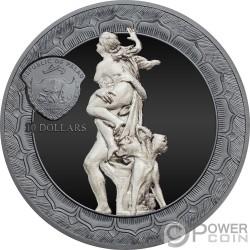 RAPE OF PROSERPINA Eternal Sculptures 2 Oz Серебро Монета 10$ Палау 2018