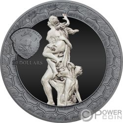 RAPE OF PROSERPINA Eternal Sculptures Rapto 2 Oz Moneda Plata 10$ Palau 2018
