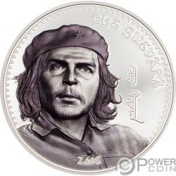 CHE GUEVARA Ernesto Serna Cuba Argentina 1 Oz Moneda Plata 1000 Togrog Mongolia 2018