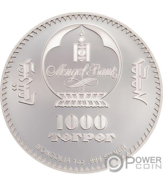 CHE GUEVARA Ernesto Serna Cuba Argentina 1 Oz Silver Coin 1000 Togrog Mongolia 2018