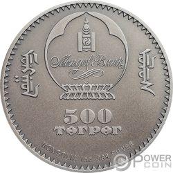 WILD BOAR Wildschwein Sus Scrofa Wildlife Protection 1 Oz Silber Münze 500 Togrog Mongolia 2018