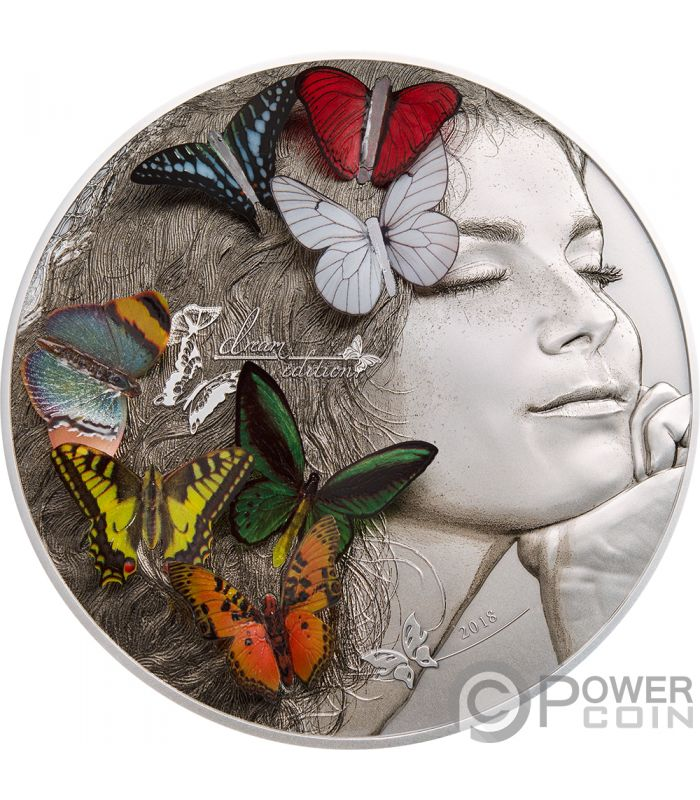 Dream Edition Butterfly 3d Exotic Butterflies 5 Oz Silver