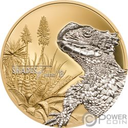 LIZARD Shades of Nature Silver Coin 5$ Cook Islands 2018
