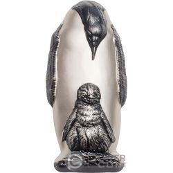 EMPEROR PENGUIN Shaped Silver Coin 20$ Cook Islands 2018