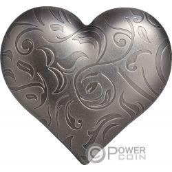 SILVER HEART Herzform 1 Oz Silber Münze 5$ Palau 2018