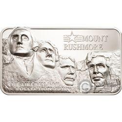 MOUNT RUSHMORE Quadrat einhängen Liberty Collection 2 Oz Silber Münze 10$ Cook Islands 2018