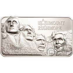 MOUNT RUSHMORE Square Liberty Collection 2 Oz Silver Coin 10$ Cook Islands 2018