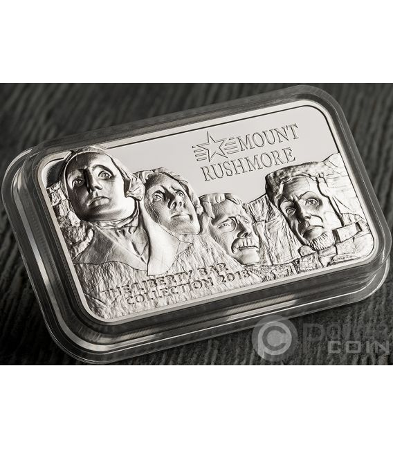 Mount Rushmore Square Liberty Collection 2 Oz Silver Coin