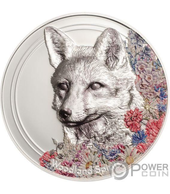 FOX Woodland Spirit 1 Oz Silver Coin 500 Togrog Mongolia 2018