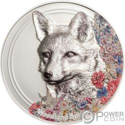 FOX Zorro Woodland Spirit 1 Oz Moneda Plata 500 Togrog Mongolia 2018