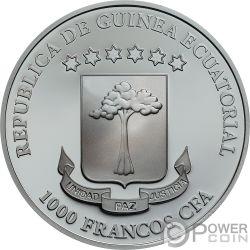 VANITY Crystal Skull 1 Oz Silver Coin 1000 Francs Equatorial Guinea 2018