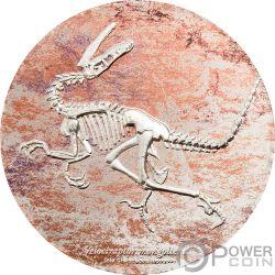 VELOCIRAPTOR Prehistoric Beasts 3 Oz Серебро Монета 2000 Тугриков Монголия 2018