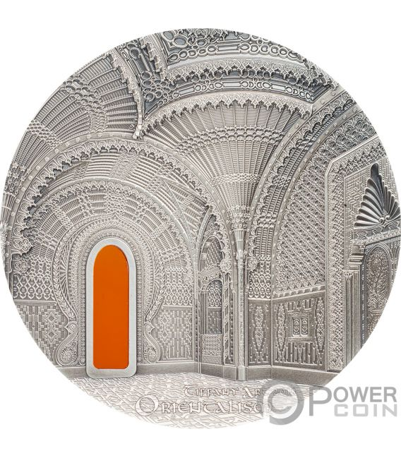 TIFFANY ART ORIENTALISM Castle of Sammezzano 2 Oz Silver Coin 10$ Palau 2018