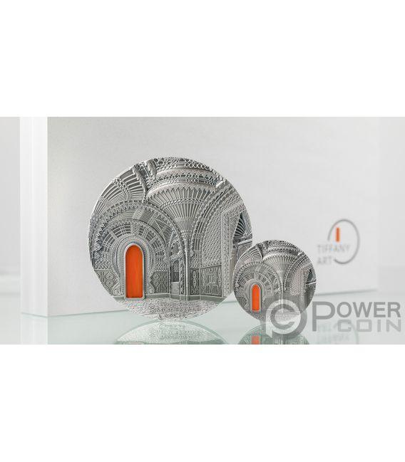 TIFFANY ART ORIENTALISM Schloss von Sammezzano 2 Oz Silber Münze 10$ Palau 2018