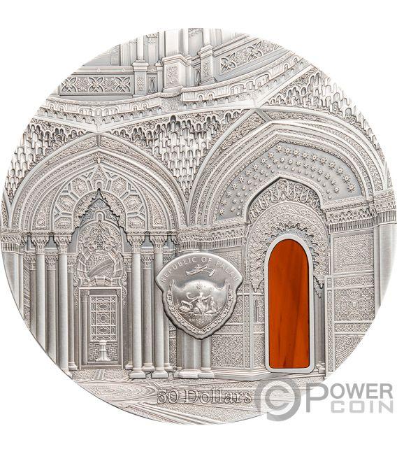TIFFANY ART ORIENTALISM Castle of Sammezzano 1 Kg Kilo Серебро Монета 50$ Палау 2018