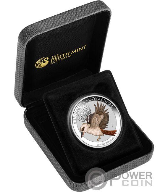 Kookaburra Coloured World Money Fair Wmf 1 Oz Silver Coin