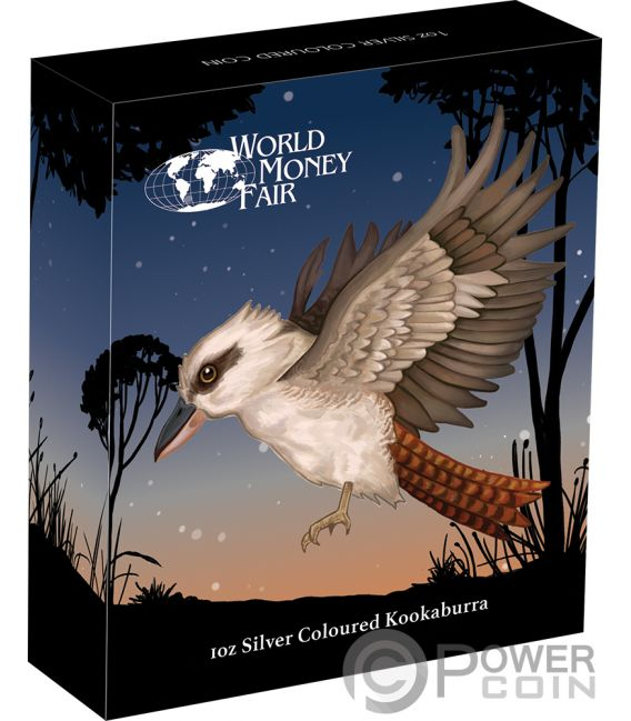 Kookaburra Coloured World Money Fair Wmf 1 Oz Silver Coin
