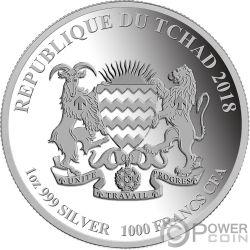 LOVE FOREVER Amor Siempre 1 Oz Moneda Plata 1000 Francs Chad 2018