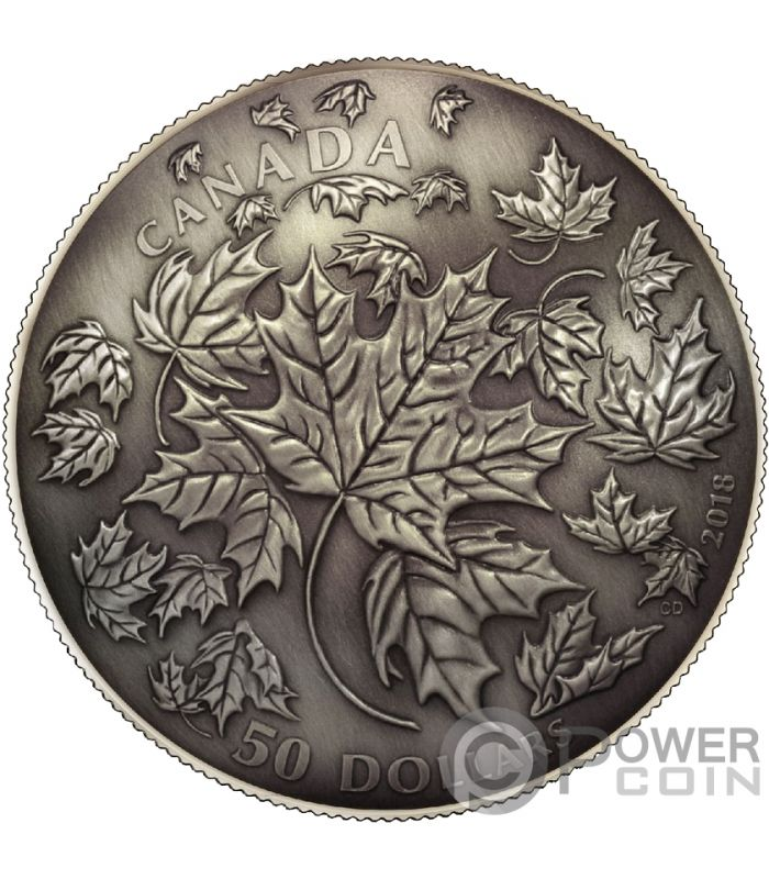 Maple Leaf 30th Anniversary Dome Convex Shape 5 Oz Silver