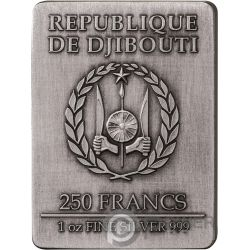 THREE MUSKETEERS Drei Musketiere Set 4x1 Oz Silber Münzen 250 Francs Djibouti 2018
