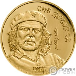 CHE GUEVARA Ernesto Serna Cuba Argentina Moneda Oro 1000 Togrog Mongolia 2018