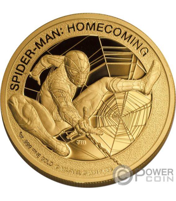 Spiderman Homecoming Marvel Mercanti Stan Lee 1 Oz Gold