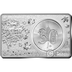MAPLE LEAF 30th Anniversary 1 Oz Silver Coin 2 Oz Set Canada 2018