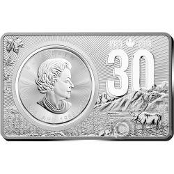 MAPLE LEAF 30th Anniversary 1 Oz Серебро Монета 2 Oz Set Канада 2018