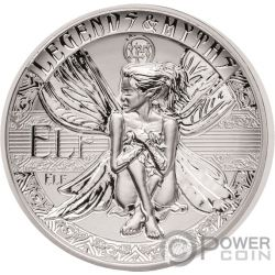 ELF Second Legends And Myths 2 Oz Silver Coin 5$ Solomon Islands 2018