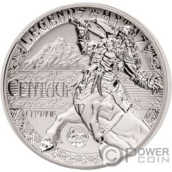 CENTAUR Centauro Second Legends And Myths 2 Oz Moneta Argento 5$ Solomon Islands 2018