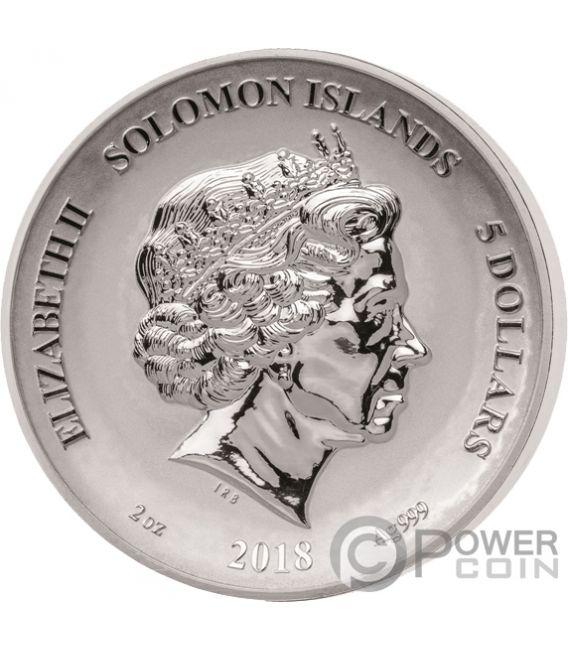 CENTAUR Second Legends And Myths 2 Oz Silber Münze 5$ Solomon Islands 2018