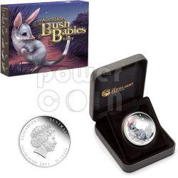 BILBY Bush Babies Plata Proof Moneda 50c Australia 2011