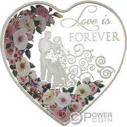 LOVE IS FOREVER Liebe für immer Herz Silber Münze 1$ Tokelau 2018