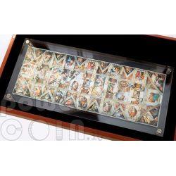 SISTINE CHAPEL Ceiling Fresco 1 Kg Kilo Silber Set 33 Münzen 1$ Niue 2011