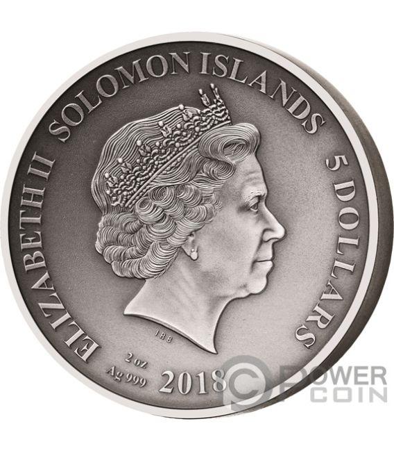 ADVENTURES OF ODYSSEUS Ulysses Set 10x2 Oz Silver Coins 5$ Solomon Islands 2018
