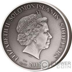 ADVENTURES OF ODYSSEUS Ulises Set 10x2 Oz Moneda Plata 5$ Solomon Islands 2018