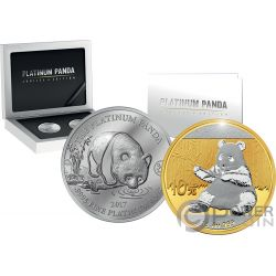 PANDA Jubilee Set Platinum Gold Coin 5$ 10 Yuan China Cook Islands 2017