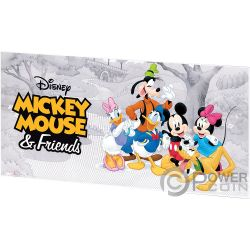 MICKEY MOUSE AND FRIENDS Disney Foil Silver Note 20 Cents Niue 2017