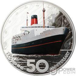 TEV WAHINE 50th Anniversary 2 Oz Серебро Монета 1$ Новая Зеландия  2018