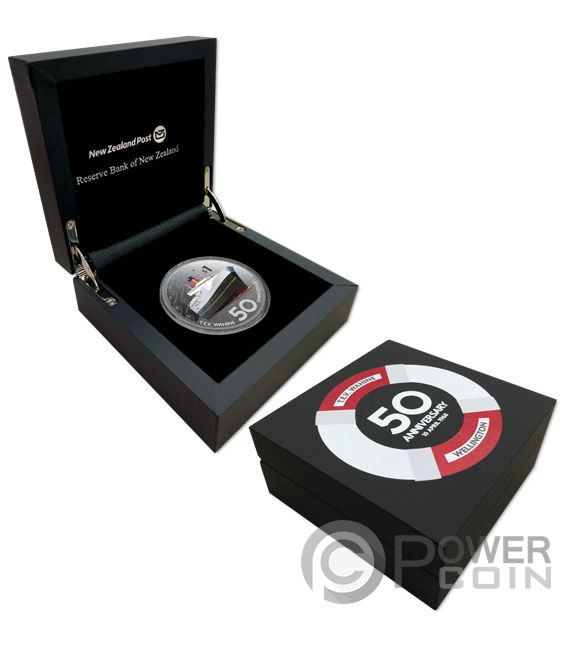 TEV WAHINE 50th Anniversary 2 Oz Silver Coin 1$ New Zealand 2018